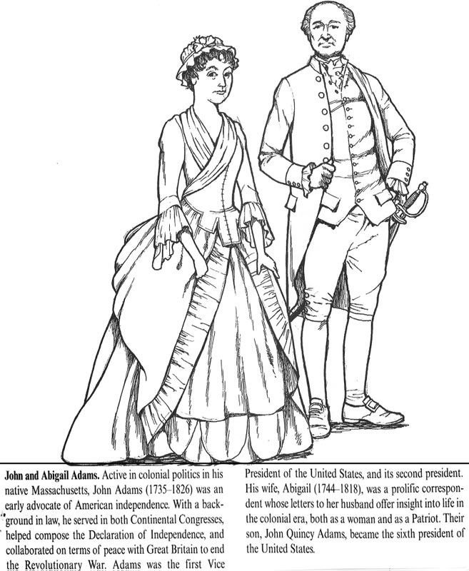 abigail adams coloring pages - photo#4