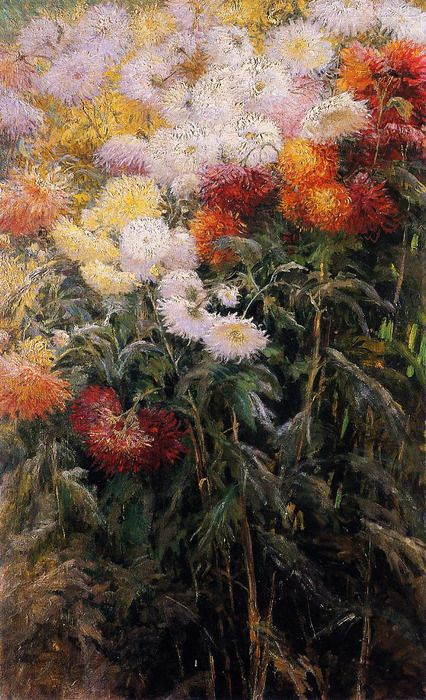 Gustave Caillebotte, Chrysanthemums, Garden at Petit Gennevilliers, 1893, oil on canvas: