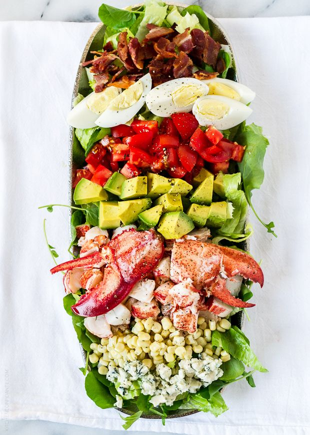 Lobster Cobb Salad | www.kitchenconfidante.com