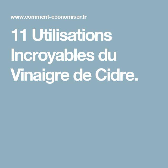 11 Utilisations Incroyables du Vinaigre de Cidre.