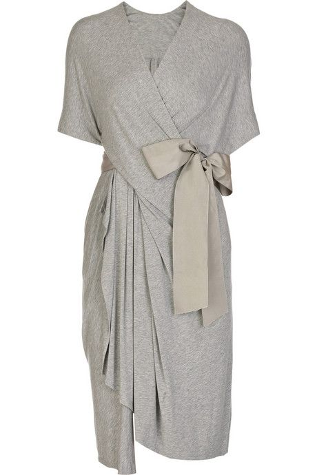 donna karan twist-front jersey dress @Mimi Goodwin I could see you wearing or making this!