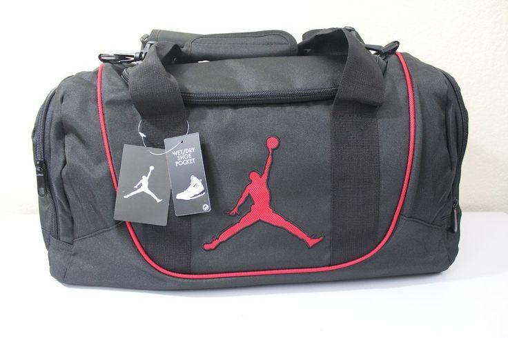 af90d4616e nike jordan jump man gym small duffle bag black 20 x 10 x 11.5 ...
