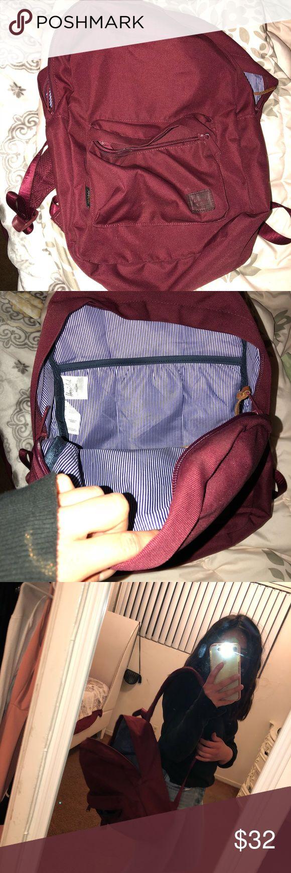 Backpack Maroon Herschel backpack Herschel Supply Company Bags Backpacks