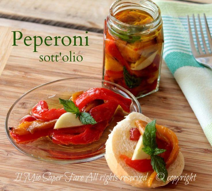 Peperoni sotto olio ricetta peperoni grigliati sott'olio