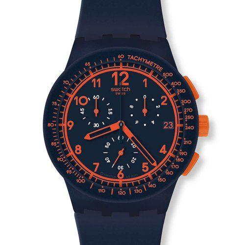Swatch Men's Originals SUSN401 Blue Silicone Swiss Quartz Watch with Blue Dial Swatch http://www.amazon.com/dp/B00CHJ44HC/ref=cm_sw_r_pi_dp_oLONtb1925MB501X