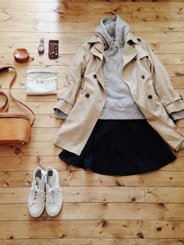 Hoodie and skirt