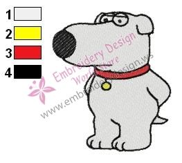 Brian Family Guy Embroidery Design