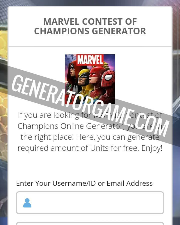 [NEW] MARVEL CONTEST OF CHAMPIONS HACK ONLINE: www.online.generatorgame.com  Get Free up to 9999 Units each day to your account: www.online.generatorgame.com  Added immediately after generate! No More Lies: www.online.generatorgame.com  Please SHARE this awewome method guys: www.online.generatorgame.com  HOW TO USE:  1. Go to >>> www.online.generatorgame.com and choose MARVEL Contest of Champions image (you will be redirect to MARVEL Contest of Champions Generator site)  2. Enter your MARVEL…