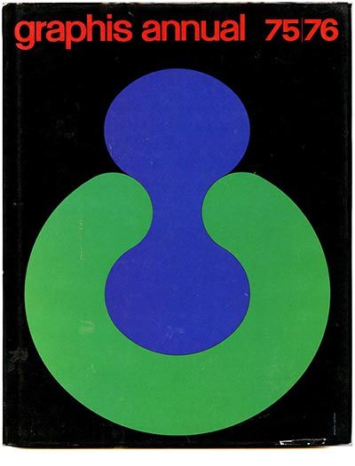 Erberto Carboni, cover design for graphis annual 1975-76
