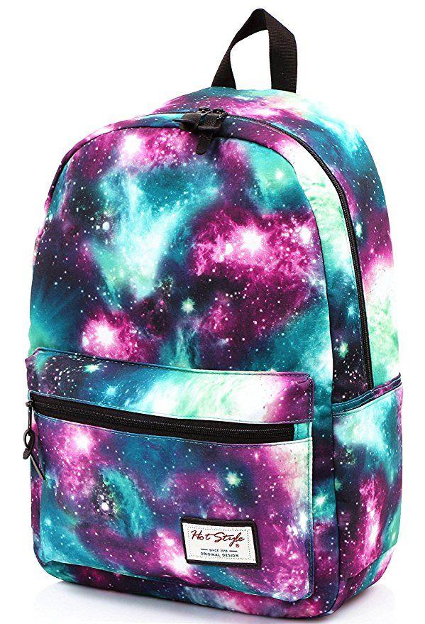 Galaxy Starry Backpack Women Girl Rucksacks School Bag Boy 17/' Bookbag Satchel