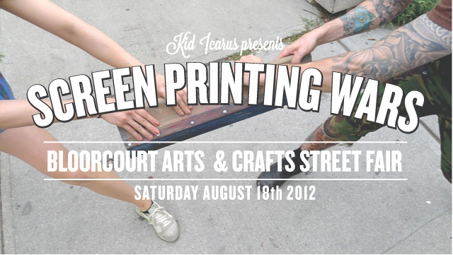 A battle between teams of professional screen printers with a challenge to produce the best gig poster!