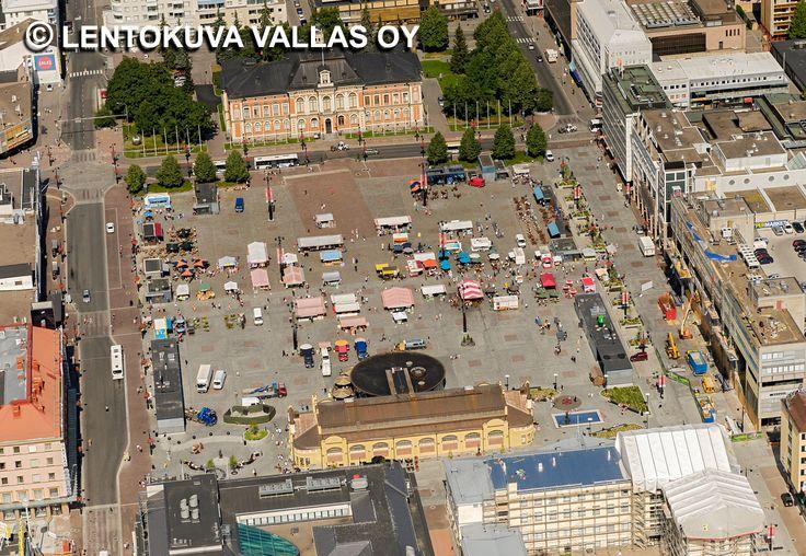 Kuopion tori Ilmakuva: Lentokuva Vallas Oy