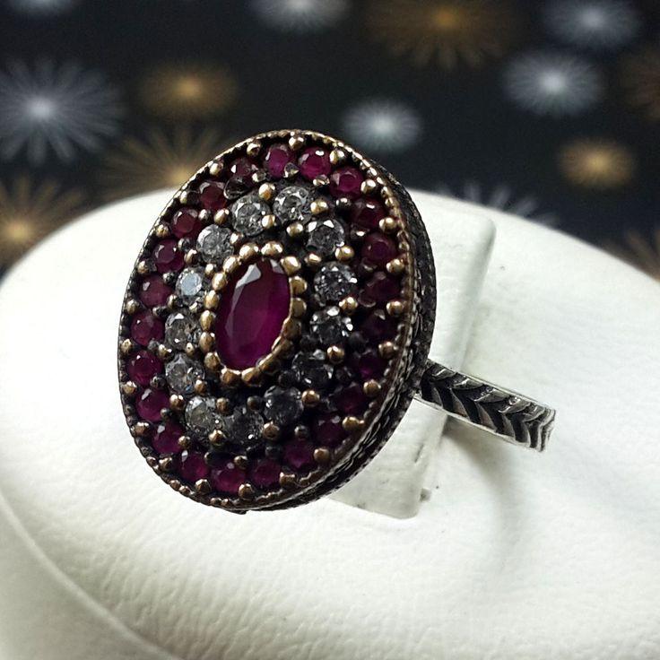 VITA! Turkish Ruby Topaz Stone 925K Sterling Silver Handmade Ring Size 8 in Jewelry & Watches, Fashion Jewelry, Rings | eBay
