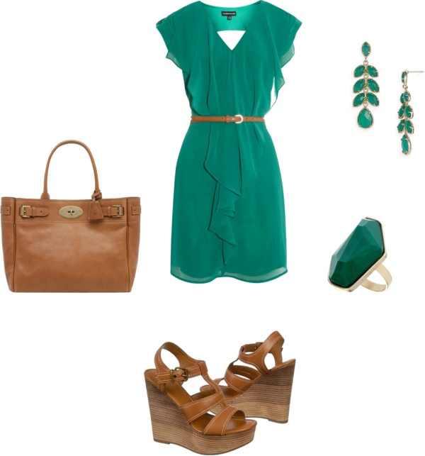"""""""Teal Dress"""" by mrscosentino on Polyvore"""