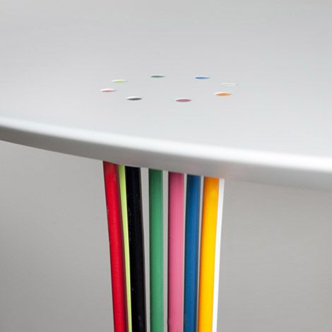 Console Table Colourful Lacquered Steel Legs1 (470×. Table Legs