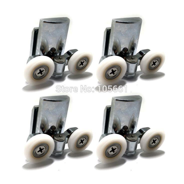 4* Shower Door Wheels 23mm Shower Door Rollers Bottom 4pcs