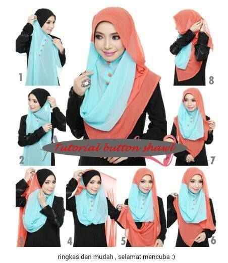 #button #shawl #hijab #tutorial