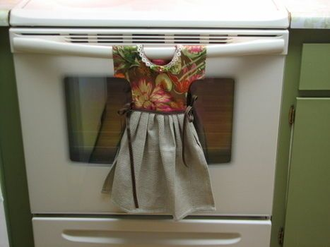 Hanging Dish Towel Dress-adorable!