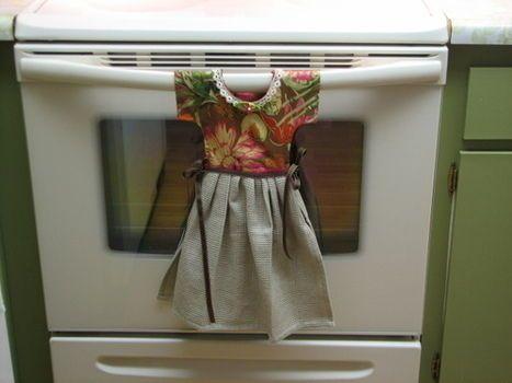 Hanging Dish Towel Dress-adorable!