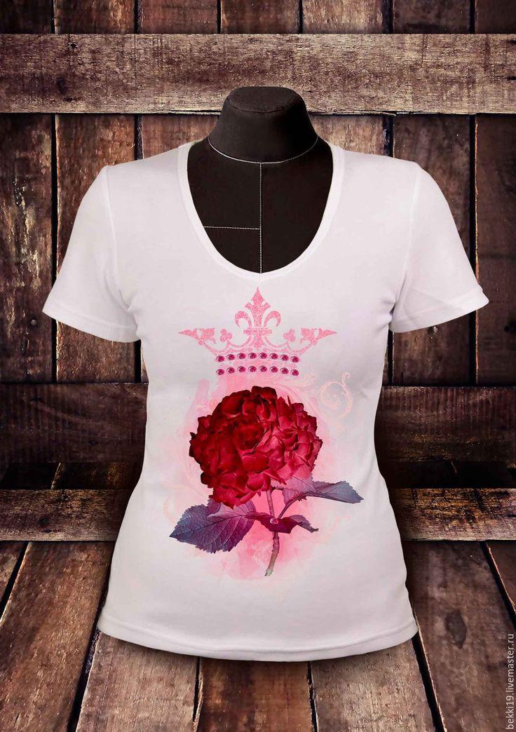 Купить Футболка женская KORONA RUBI - футболка, футболка с рисунком, футболка на заказ, футболка с принтом