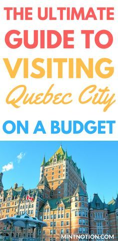 The ultimate guide to visiting Quebec City on a budget. As a popular honeymoon destination, visiting Quebec City on a budget may seem impossible at first glance. While many of its hotels and restaurants are some of the most expensive in the province, there are a variety of affordable ways to visit this picturesque city. Click through to find out the best ways to visit Quebec City for cheap.