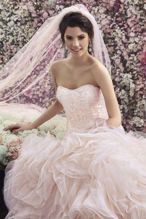 Toz Pembe Gelinlik - Powder Pink Wedding Dress by Goldstore