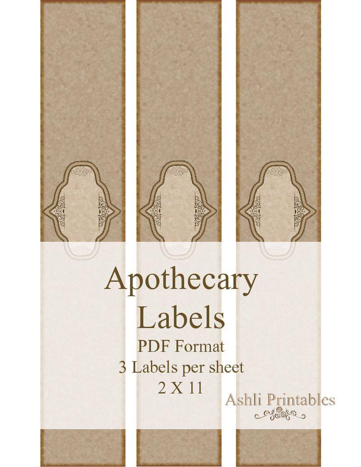 Handmade Soap Labels   Apocathery Soap Labels Horizontally