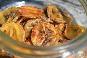 Simple Healthy Baked Banana Chips