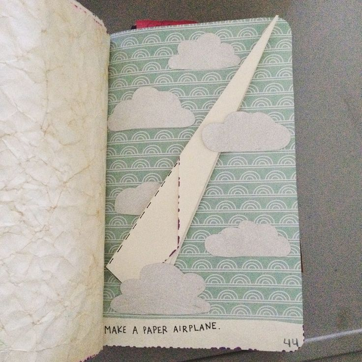 sammlovesit: Wreck This Journal - Make A Paper Airplane