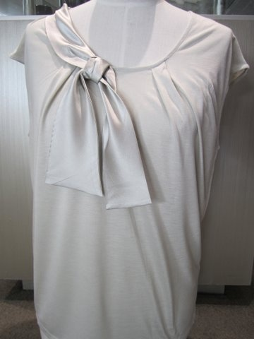 White Short Sleeve 'Bow' Top