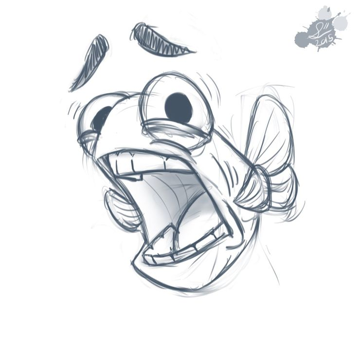 Scared Fish Doodle by Spodness on DeviantArt