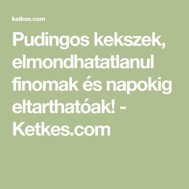 Pudingos kekszek, elmondhatatlanul finomak és napokig eltarthatóak! - Ketkes.com