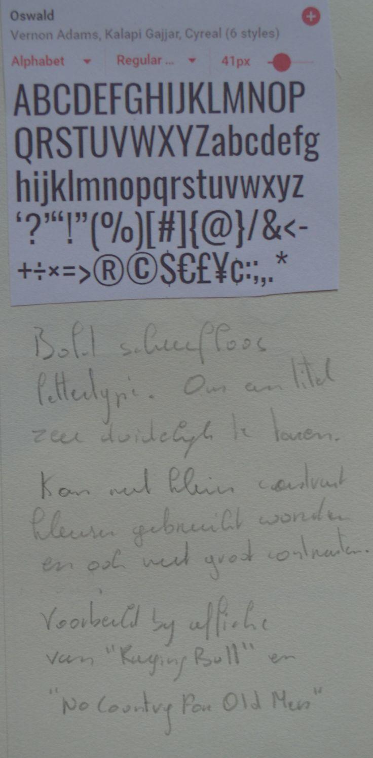 schreefloos lettertype : Oswald Een zeer dik lettertype dat gaat opvallen.