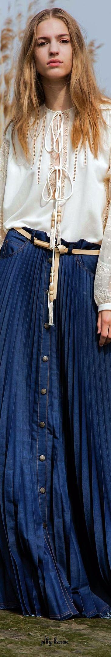 Diamond Cowgirl - Denim Skirt by Veronique Branquinho Resort 2017