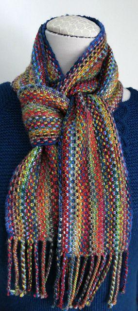 lv2knit's Malabrigo Linen Stitch Scarf. malabrigo Worsted.