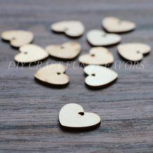 20 шт. 3 см / 4 см деревянные сердца для diy ремесло аксессуар старинные свадебные украшения брак питания(China (Mainland))