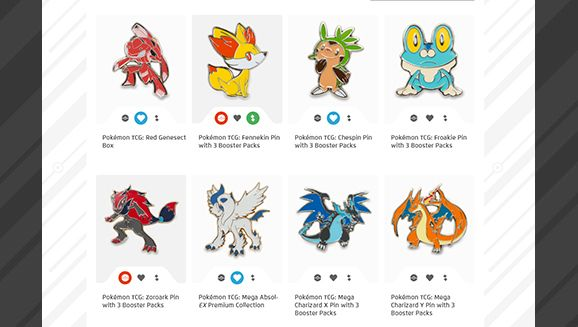 New Pokémon Trainer Club Collectible Gallery feature lets you track and display Pokémon pins youve collected