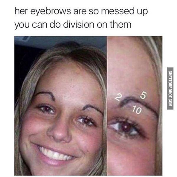 Long division eyebrows