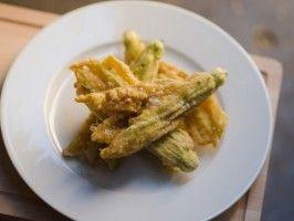 Fried Zucchini Flowers (Beignet de Fleurs de Courgette) from CookingChannelTV.com
