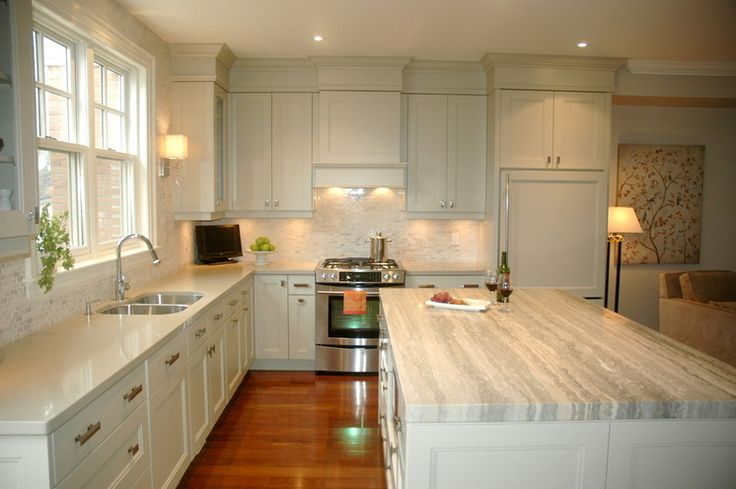 Light molding: along bottom of cabinets, hides undercabinet lighting.