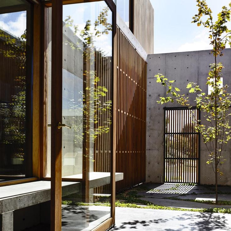 Concrete pad in Australia sheltering an internal courtyard