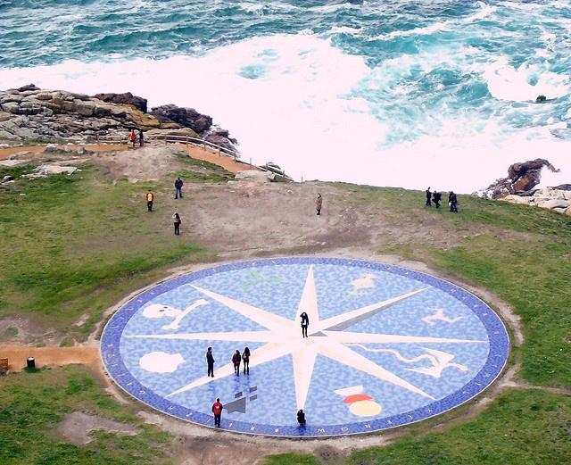 Rosa de los vientos (A Coruña)(Galicia, España)