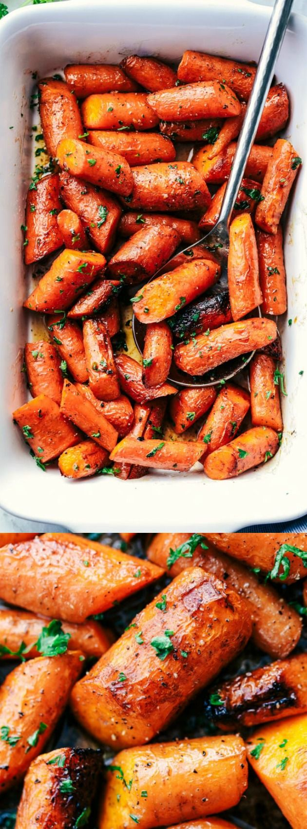 These Roasted Brown Butter Honey Garlic Carrots from The Recipe Critic make an excellent side dish for any meal! They are roasted to tender perfection in the most incredible brown butter honey garlic sauce!