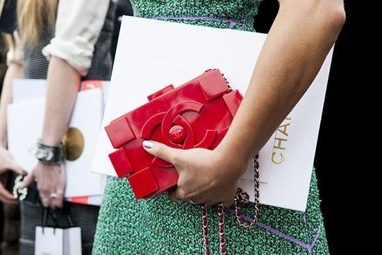Chanel's lego clutch!