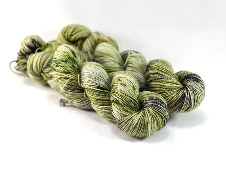 Irish Bog - First Class MCN - Merino Nylon Cashmere Yarn - Luxury Yarn - Green Luxury Yarn - Green Speckled Yarn - Irish Yarn - Moss green by DestinationYarn on Etsy https://www.etsy.com/listing/290848273/irish-bog-first-class-mcn-merino-nylon