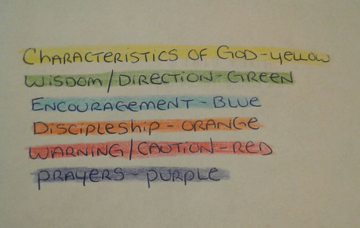 Bible Highlighter Color Codes