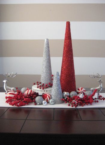 I love these trees for the holiday's! They are great decorations for a dinning room table!