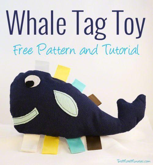 Tessuto per il bambino balena può essere fatta con i materiali che si desidera (Foto: twomoreminutes.com)
