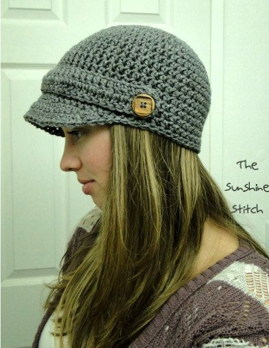 Free Crochet Pattern Newsboy Style Cap : PATTERN download pdf crochet adult newsboy cap