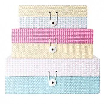 Pretty Pastel Storage Boxes